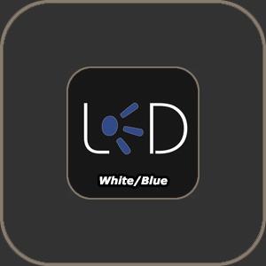 """Littlite LED Lamp White-Blue 18"""""""