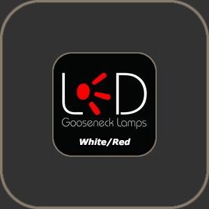 """Littlite LED Lamp White-Red 18"""""""