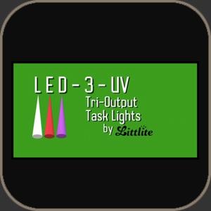 """Littlite LED Lamp White-Red-UltraViolet 18"""""""
